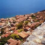 Blick auf die Unterstadt von Monemvasia