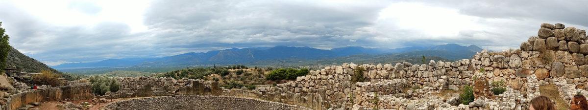 Panorama aus Sicht von Mykene