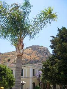 Aussicht auf die Palamidi-Festung oberhalb von Nafplio.
