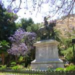 Reiterstatue des griechischen Freiheitskämpfers Theodoros Kolokotronis in Nafplio