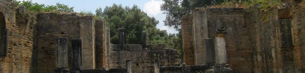 Ruinen von Olympia auf dem Peleponnes