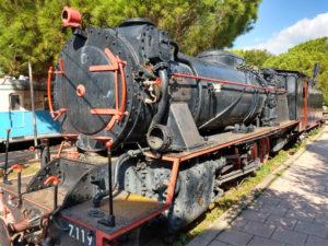 Im Eisenbahnmuseum von Kalamata