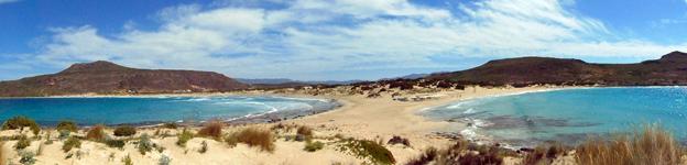 "Doppelstrand ""Simos Beach"" von Elafonisos"