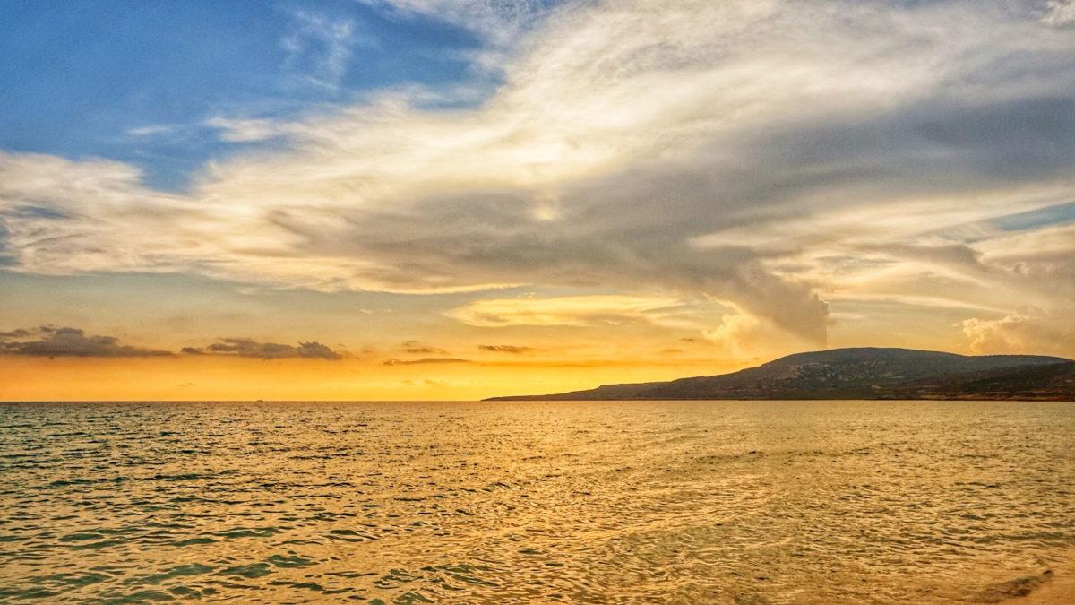 Sonnenuntergang auf Elafonisos