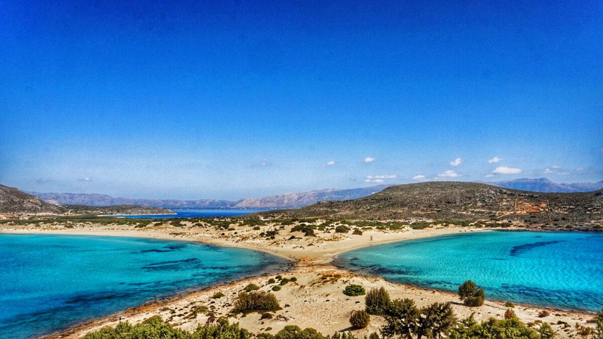 """Die Doppelbucht """"Simos Beach"""" auch Elafonisos"""