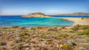 Blick über Simos Beach