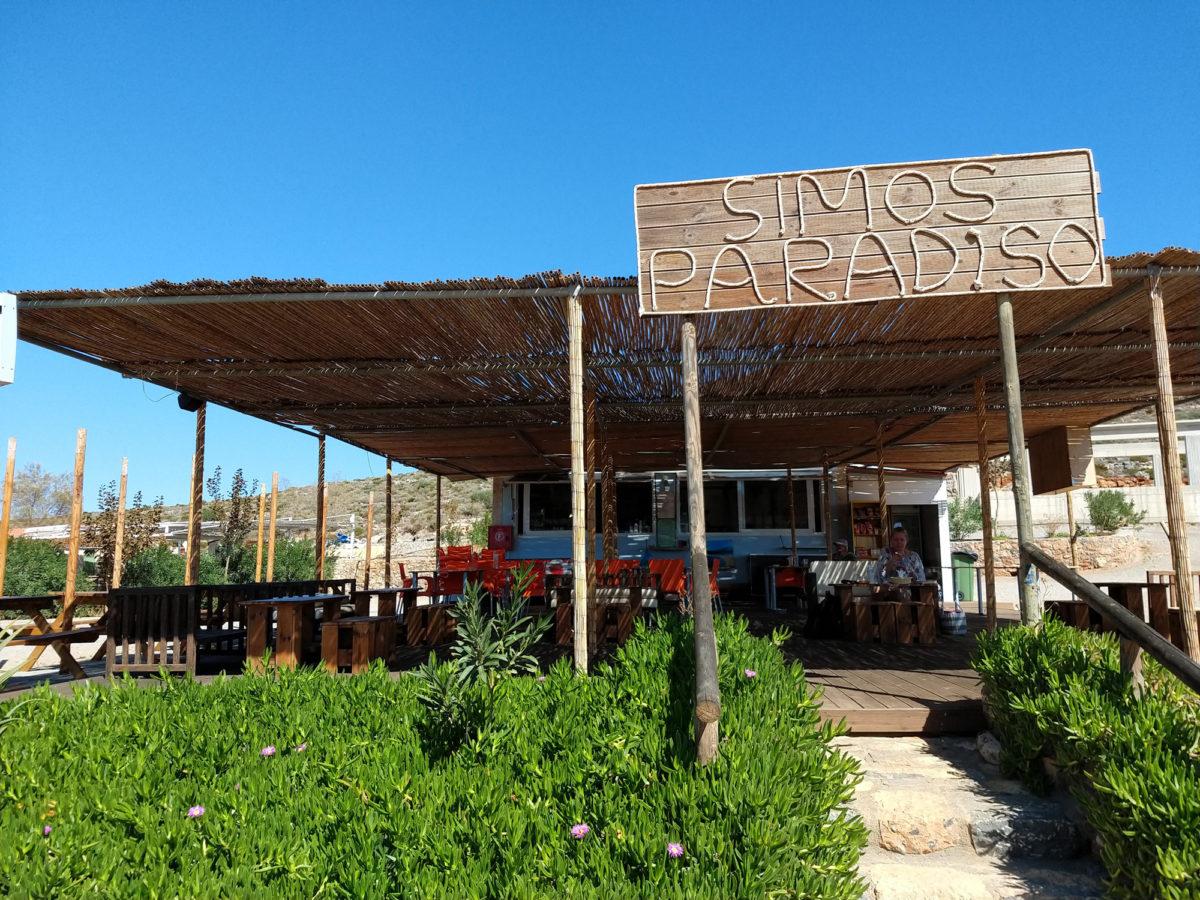 Simos Paradiso: Kleine Bar direkt am Simos Beach
