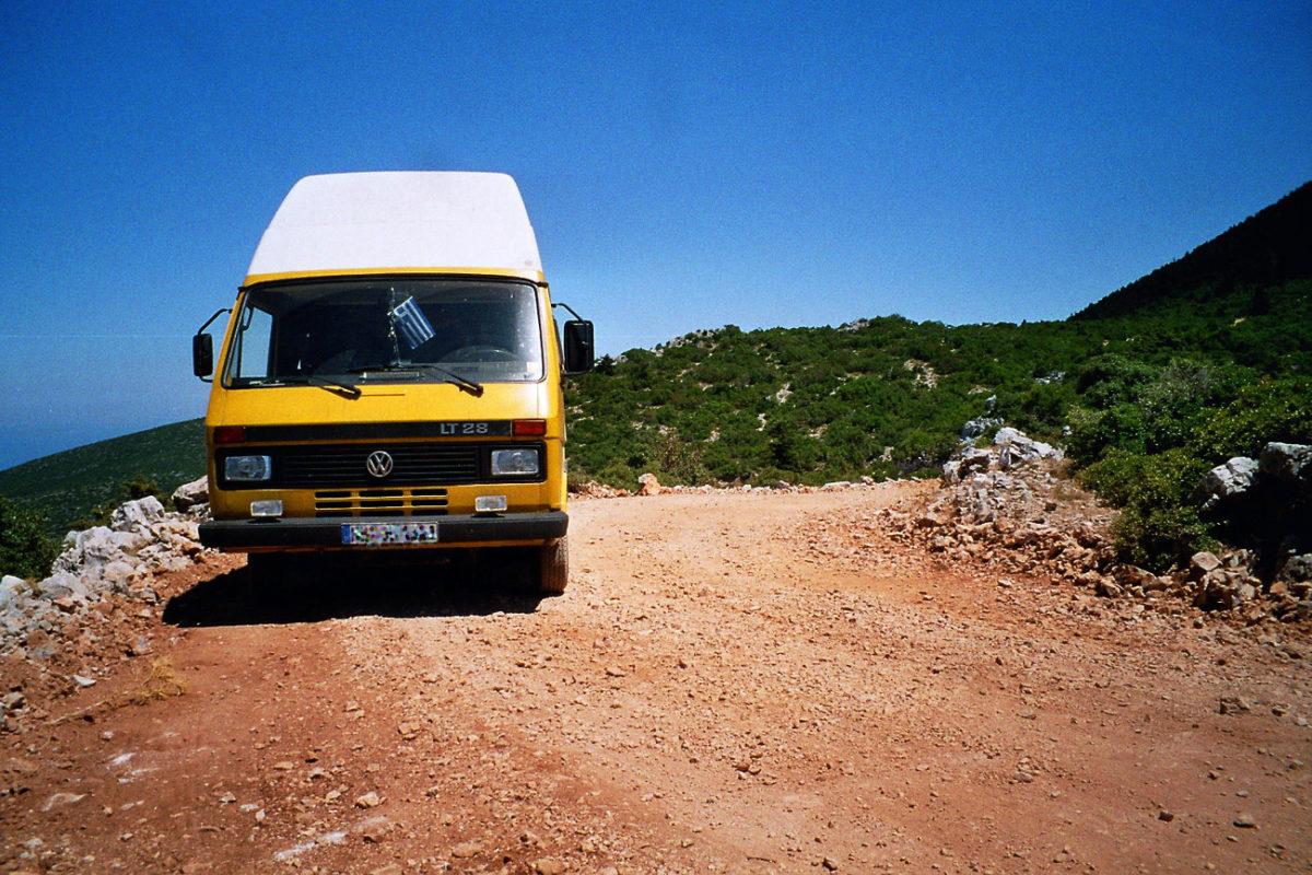 Zwischenstop auf einer wilden Bergpiste an der Ostküste des Peleponnes.