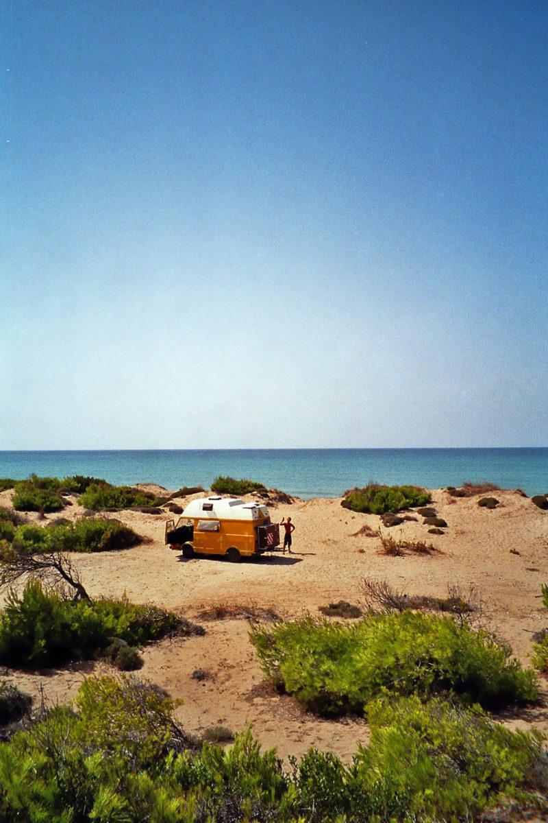 Wildcampen in den Dünen von Kalogria
